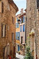 narrow Street in Montauroux Provence France