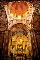Ornate Guadalupita Church Interior Altar Cross and Dome Morelia, MexicoResubmit__In response to comments from reviewer have further processed image to...