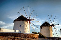 Santorini Windmills at Sunset  Santorini, Greece Greek Islands