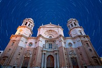 Wonderful cathedral of neoclassical style of ancient city of Cádiz