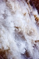 White Brown Snoqualme Falls Abstract Washington State Pacific Northwest Gushing Waterfall Dumps Water