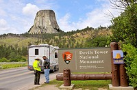 Devil´s Tower National Monument Wyoming WY igneous intrusion laccolith