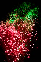 Fibre optics, close up