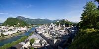 Austria, Salzburg, View of town