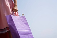 Woman's hand holding shopping bag