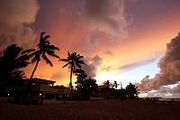 kite beach hotel Dominican Republic at sunset