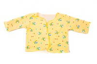 Yellow baby shirt isolated on white