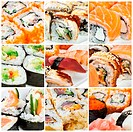 Japanese Cuisine _ Sushi Roll. Traditional Japanese cuisine