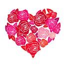 Valentine rose heart . Eps 8