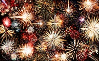 fireworks background. High detail photo holiday fireworks