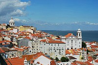 beautiful landscape view of Lisbon, Portugal
