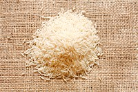 Basmati rice in a heap