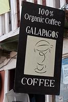 Close_up of a signboard, Puerto Baquerizo Moreno, San Cristobal Island, Galapagos Islands, Ecuador
