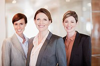 Portrait of smiling businesswomen