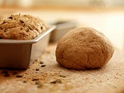 Close up of fresh baked bread and dough (thumbnail)