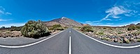 Panoramic view of Teide Mount, the highest in Spain, located at Tenerife Island