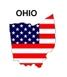 USA State Map Ohio