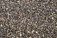 close_up view of pebble sand