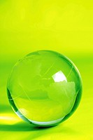 Green glass globe high resolution image