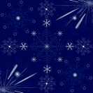 Texture of beautiful snowflakes background