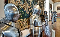 Knights´ armours, weapons and art museum in the Veste Coburg castle, Coburg, Upper Franconia, Franconia, Bavaria, Germany, Europe