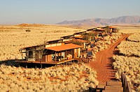 Chalets of the Wolwedans Dune Lodge in the Namib Rand Nature Reserve, Namib Desert, Namibia, Africa
