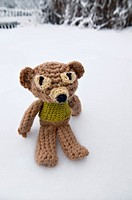 Handmade knitten toy bear