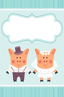 Piggies newlyweds.