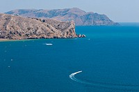 Beautiful panorama of Black Sea´s azure lagoon