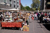 Stalls at Bermondsey Square Antiques Market London