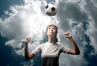 female football player training