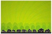 Green City Skyline. Vector Ecology Collection.