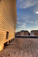 Kursaal Center by Rafael Moneo at sunset  Donostia- San Sebastian European Capital of Culture 2016  Guipuzcoa, Basque Country, Spain