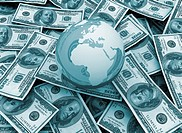 global economy Money background