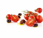 Vine tomatoes and black olives