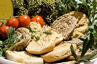 two_baked south italian bread called frisella