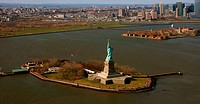 Statue of Liberty, New York, aerial photo