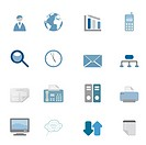 Business related symbols icon set