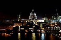 St. Pauls Cathedral in London at night cityscape