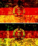 some very old grunge flag of east germany