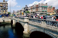 O´Connell Bridge across the River Liffey