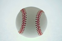 Closeup of authentic baseball