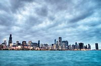 HDR of Chicago Skyline
