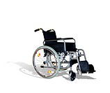 wheelchair for invalids on white