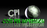 CPI Cost Per Impression Web Advertising Art
