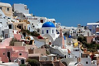 Cityscape of oia at summer, santorini, greece