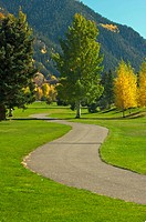 Aspen Golf Course as the Aspen Pines Change Color