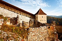Rasnov fortress ruins in Romania from the 13th century