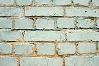 old brick wall of the blue colour
