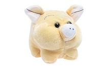 Soft Toy Pig on Isolated White Background